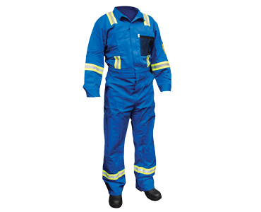 Premium Blue Fire Resistant fabric cover all from Bunzl Safety.