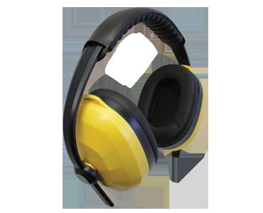 Protecteur d'oreilles coussiné jaune Workhorse de Bunzl-Sécurité.